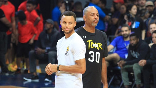 Dell Curry and Stephen Curry