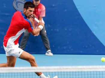 Novak Djokovic enjoying the attention he is getting at the Tokyo Olympics