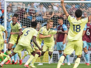Arsenal Win Second-Straight as Odegaard Scores in 1-0 Win vs Burnley